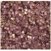 Square Beads 2X2mm Square Hole Golden Luster